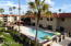 Dynamic view of the pool, spa and outdoor dining from this lovely 3rd floor condo