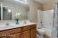 Double Vanity in Guest Bathroom