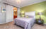 Master bedroom with sliding barn door!