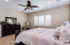 Spacious and bright with recessed lighting, plantation shutters, updated fixtures, ample wall space AND bathroom is offset. Attached Master closet is large enough to be a bedroom!