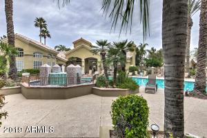Community pool at Bella Terra Condos in Scottsdale