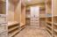 MASTER SUITE WITH 2 WALK-IN CLOSETS W/CUSTOM SHELVING