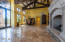 CEILING BEAMS IMPORTED FROM MOUNT ORD. TRAVERTINE. FRONT DOOR GRAND ENTRANCE
