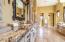 MASTER SUITE BATHROOM. GRANITE COUNTERS. VAULTED CEILINGS. TRAVERTINE FLOOR