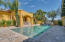 ELEGANT POOL WITH SPA, 2 FIRE-BOWLS, 2 WATERFALL FEATURES, TRAVERTINE TILE DECK