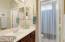 Bath 2 has door between sink and tub/toilet