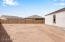Oversized 9k plus backyard blank slate to create your own oasis in the desert.