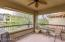 Huge covered patio overlooking common area.