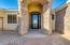 Beautiful stone turret with Custom iron front door