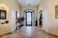 Foyer with entrance to den, split floor plan