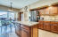 Large kitchen with island and peninsula! NEW Black stainless appliances!