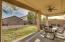 Backyard patio with mountain views and NO NEIGHBOR next to you!