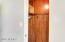 Cedar lined walk in closet