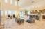Open floor plan, tall, wide, bright and light
