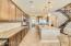 Extended kitchen cabinet and counters