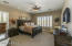 Spacious Master Bedroom Suite with Plantation Shutters