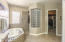 Master Bath with Separate Soaking Tub, Snail Shower and Walk-In Closet