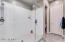 Oversized walk-in shower.