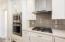 Gas cooktop/glass backsplash