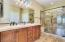 Master bath/Double sinks and walk in shower