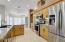 Honey Maple cabinets & SS premium appliances