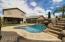 pool slide and grotto