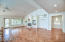 """Great room with built in and maple floors NEW PAINT really """"pops"""" this house!"""