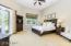 Large Master Suite with walk out to the backyard