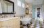 Marble accents in Master bathroom