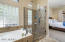 Tile surround shower and tub!