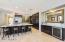 Kitchen w/wine refrigerator