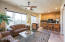 Casita living room and kitchen