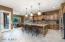 Beautiful pendants complete the gorgeous kitchen!
