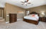 Master bedroom with newer carpeting.