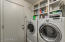 Indoor Laundry with Shelving