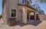 Spacious back yard with block/wrought iron privacy fencing.