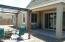 Covered patio and paver seating patio with pergola