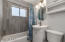 Renovated bathroom with energy efficient appliances