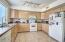 Lots of cabinet and counter space and plenty of room to move! Gas Range!