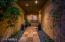 Elegantly tiled front entryway.