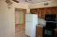 COMPLETE KITCHEN WITH CEILING FAN.