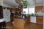 Kitchen with island & skylight-NOTE Parquet wood floors