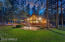 Grassy yard and fire pit