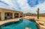 Pool with large back patio