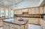 Granite counters, island and lots of cabinets