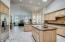 Spacious kitchen opens to spacious family room