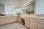 Lots of cabinets in the master bathroom