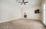 Large master suite with vaulted ceilings.