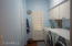 Utility room with a warm blue paint.