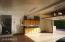 Garage with epoxy flooring